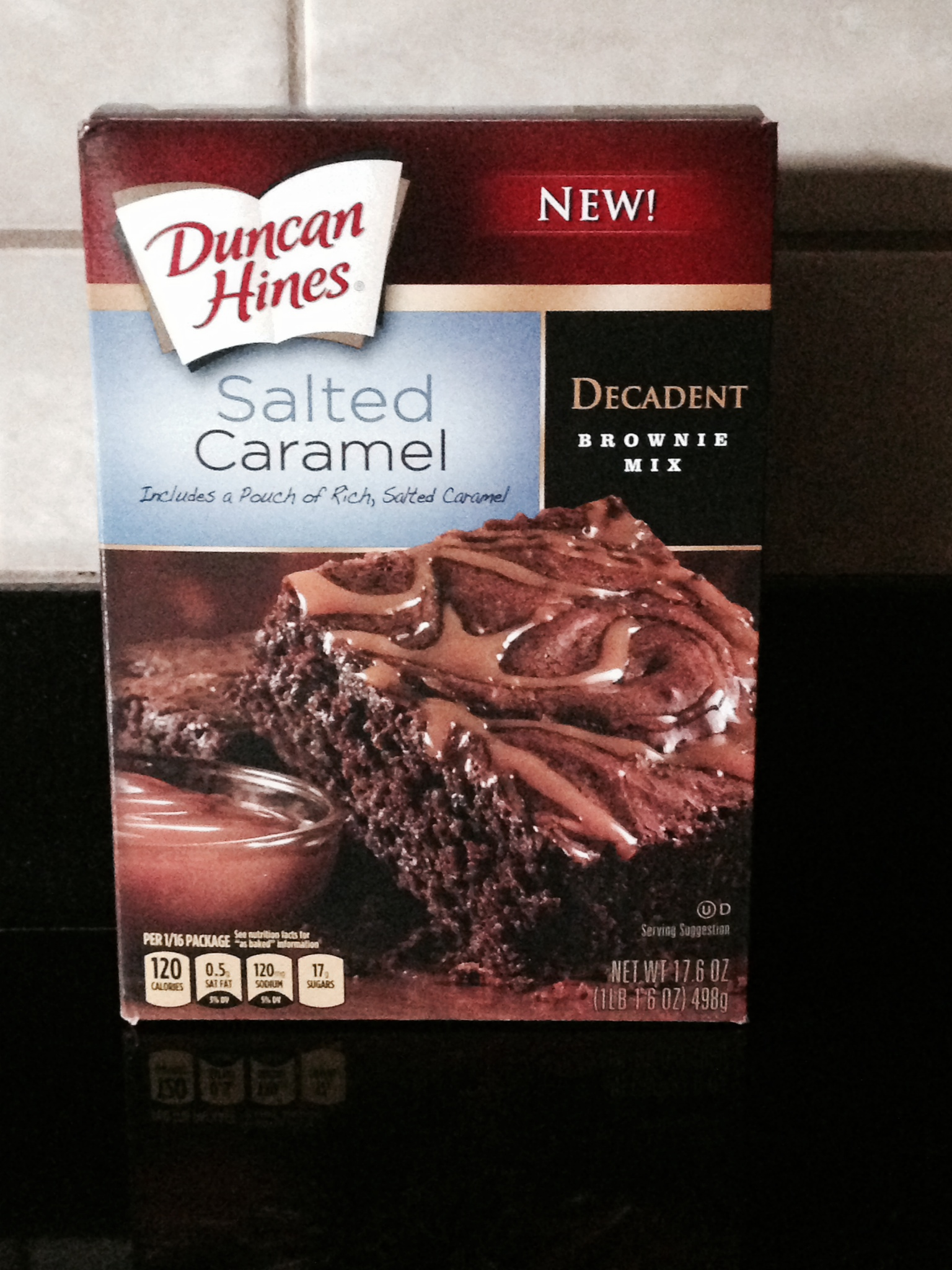 Duncan Hines Salted Caramel Decadent Brownie Things That